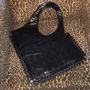 Handbags - Unique black purse with skulls